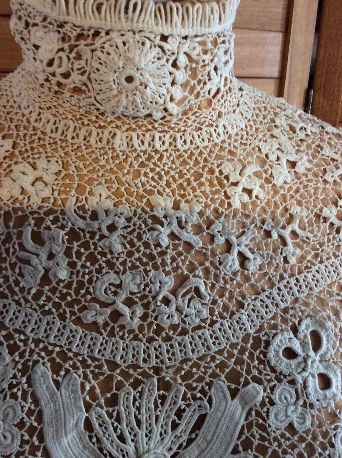 Vintage Antique Edwardian Victorian Hand Made Irish Crochet Lace ...
