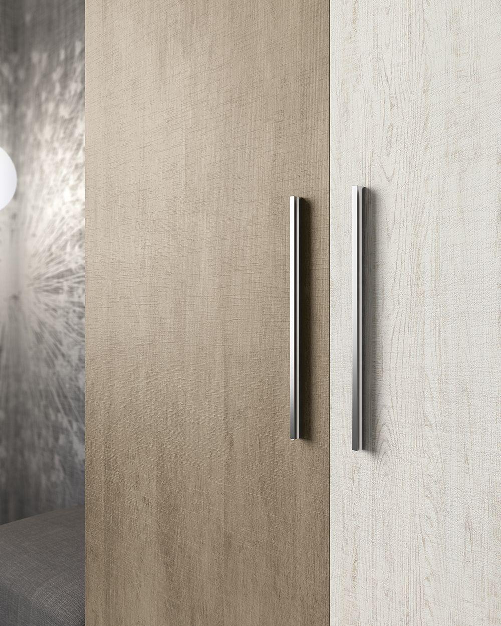 Detalle del tirador modelo asia en armario puertas for Puertas dormitorios modelos