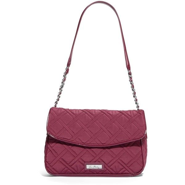 Vera Bradley Chain Shoulder Bag in Raisin ($62) ❤ liked on Polyvore