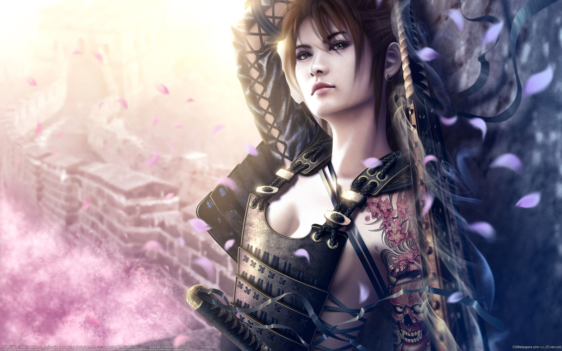 Samurai Girl - 3D and CG &amp- Abstract Background Wallpapers on ...