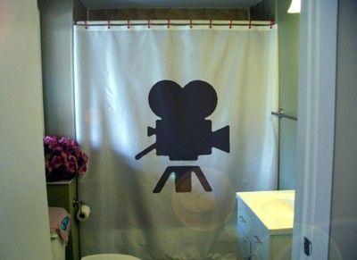 Movie Camera Shower Curtain Golden Age Of Hollywood Bath Bathroom