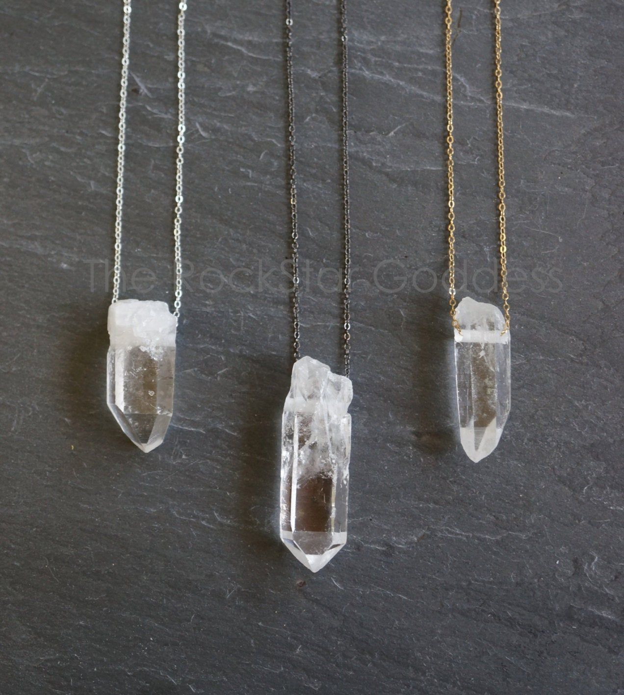 SALE / Raw Quartz Necklace / Crystal Necklace / Quartz Necklace / Crystal Jewelry / Raw Quartz Jewelry / Raw Quartz Pendant