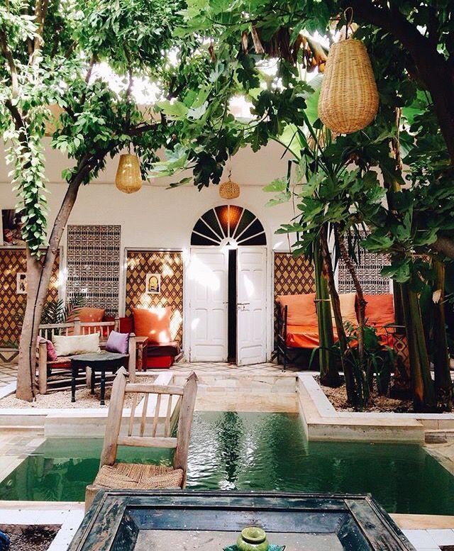 Moroccan Home Decor Ideas: Boho Patio :: Backyard Gardens :: Courtyard + Terraces :: Outdoor Living Space :: Dream Home