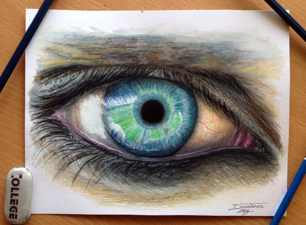 eye color pencil drawing by atomiccircusdeviantartcom on deviantart - Color Drawings
