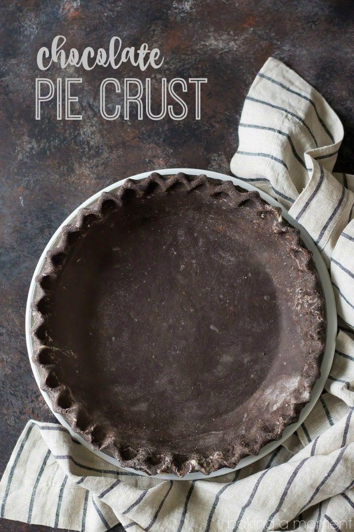 Food Photography - Chocolate Pie Crust
