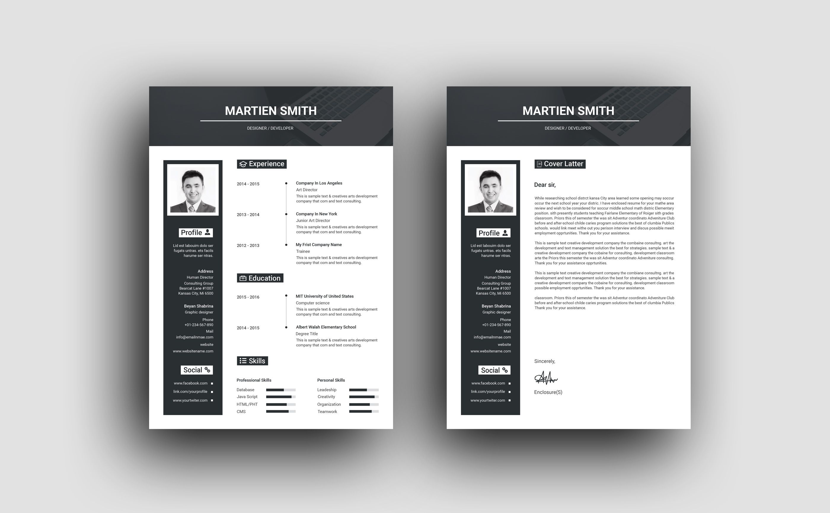 Hades Elegant Professional Resume Template - Resume template professional, Resume template, Professional resume, Resume, Resume design template, Resume template free - Hades Elegant Professional Resume Template  The perfect way to make the best impression  Strong typographic structure and very easy to use and customize    The resume have a very organized  The resume template is in Photoshop PSD and MS Word DOCX formats
