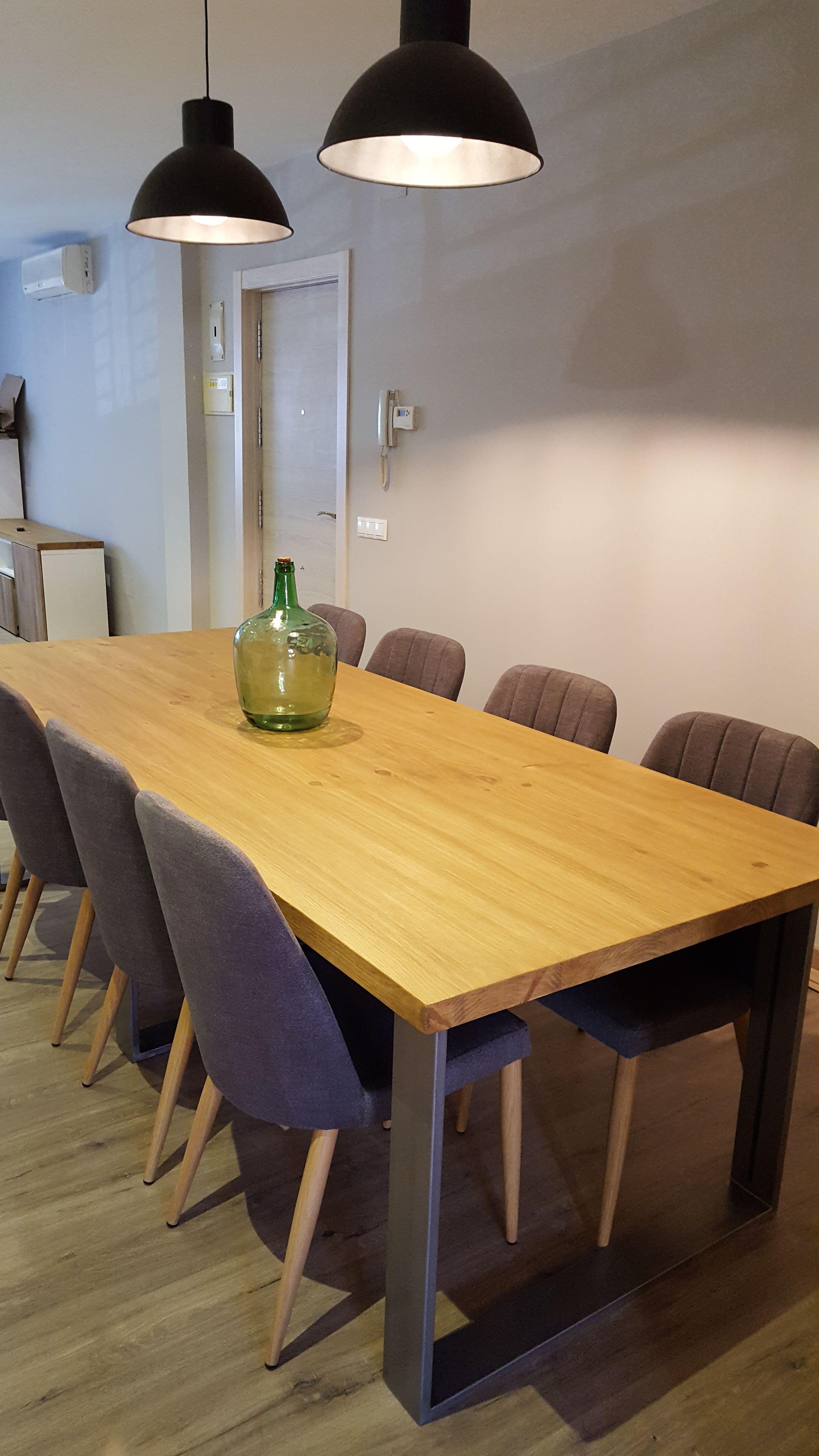 Mesa de comedor industrial en 2019 mesa de comedor for Muebles para comedores industriales