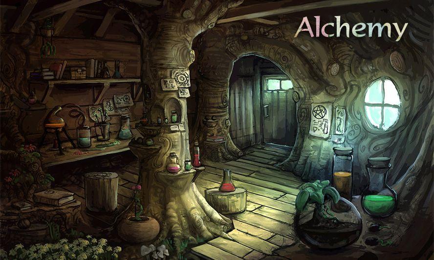 Fantasy Alchemist Shop Art