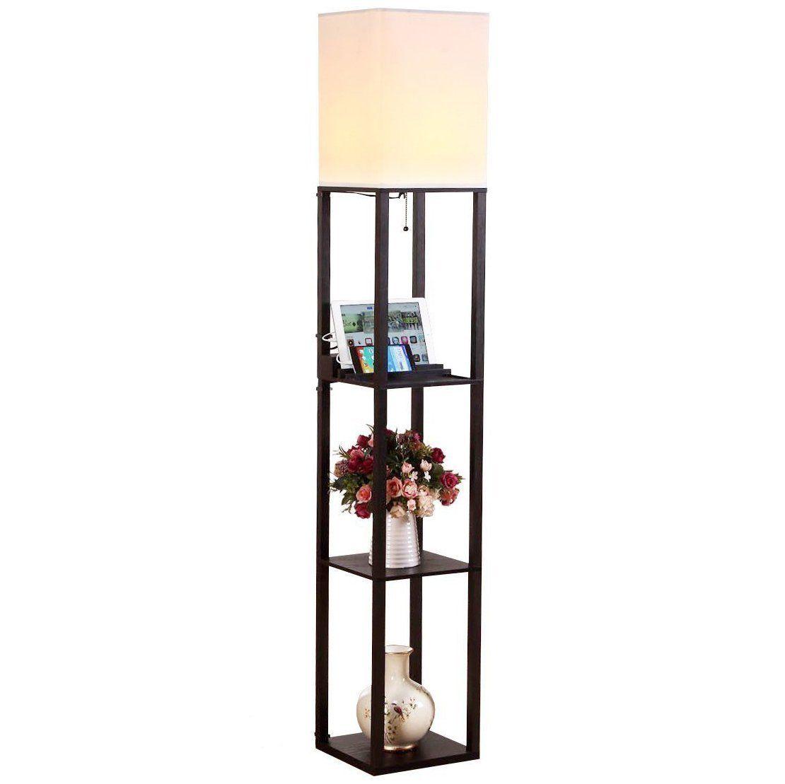 Led Shelf Floor Lamp Modern Modern Floor Lamps Wooden Floor Lamps Floor Lamp
