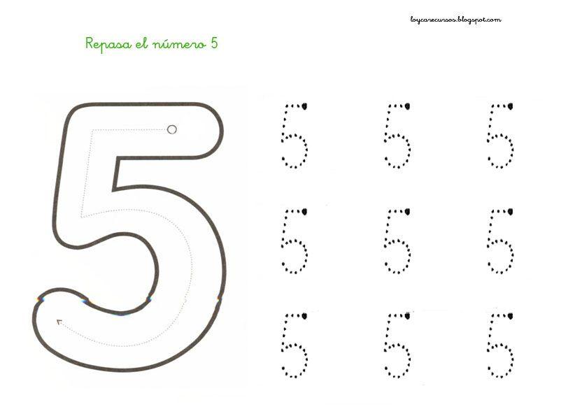 Fichas Para Aprender Y Repasar El Numero Cinco Aprender Trabajar La Grafomotricidad Y L Actividades Numericas Preescolares Imprimibles Para Preescolar Fichas