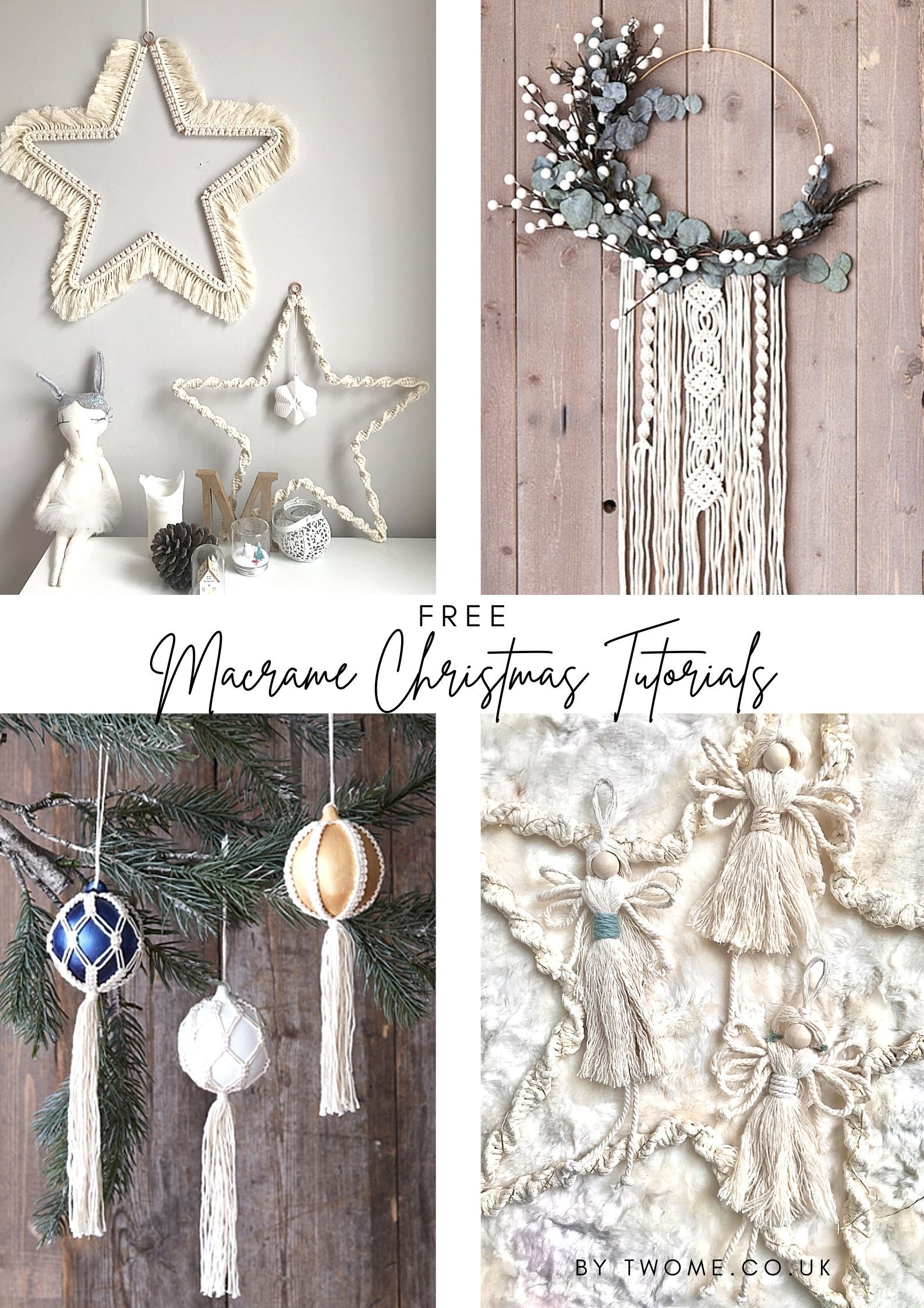Another Christmas Here With You 2020 Free Macrame Christmas Patterns in 2020 | Macrame patterns, Crafts