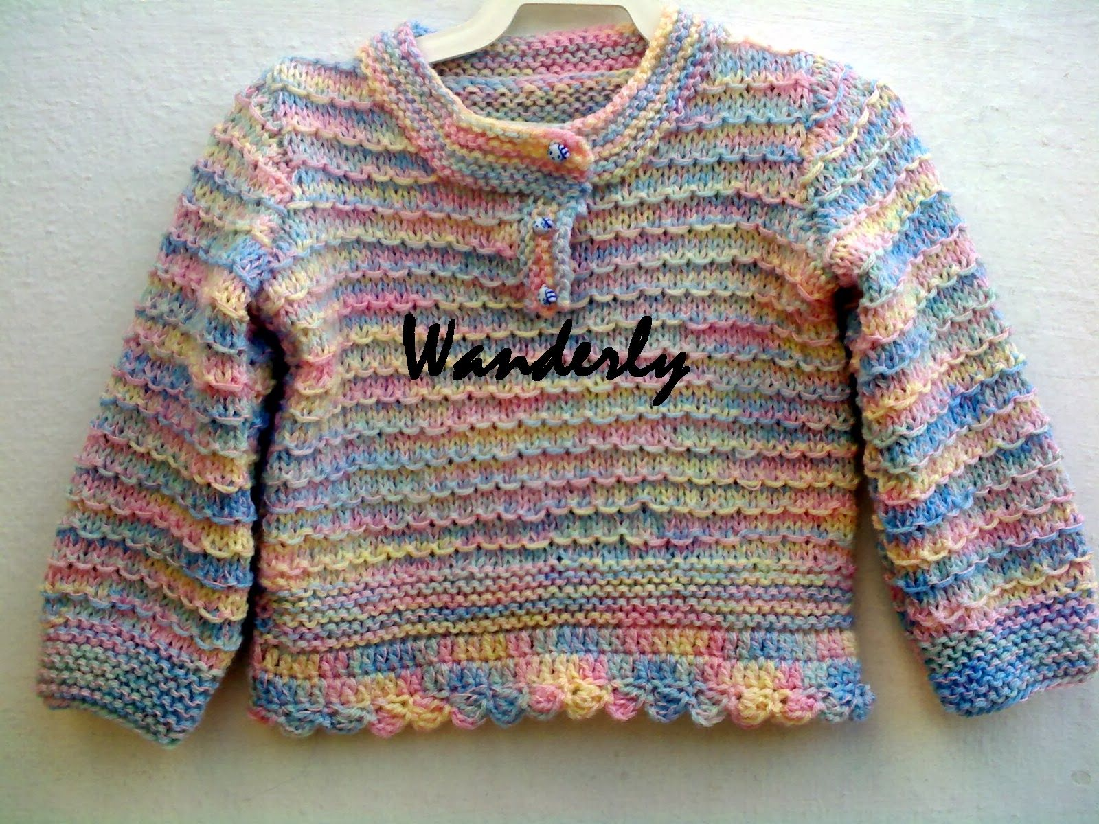 ** TRICO DA WANDERLY**: BLUSA INFANTIL .. TAMANHO 12 M.