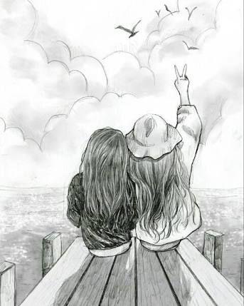 Pin By Louke Issyl On Cute Wallpapers Drawings Of Friends Best