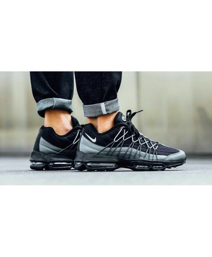 separation shoes e78c9 5f6ab Nike Air Max 95 Ultra SE Black Wolf Grey Trainer