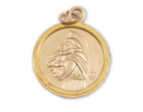 Catholic vintage two tn gold st anthony patron saint of lost things catholic vintage two tn gold st anthony patron saint of lost things pendant y614 aloadofball Image collections