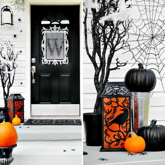 11 Spooky Ways to Decorate Your Door for Halloween via Brit + Co - pinterest halloween door decor