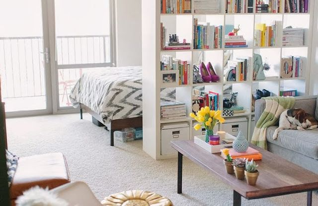 room divider less can be more tiny dwellings pinterest studio