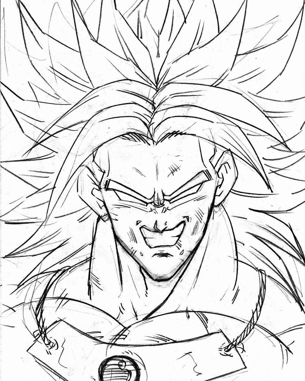 dessin densetsu no super saiyajin broly animé pinterest