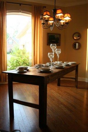 super narrow farmhouse table farm dining table diy dining table on farmhouse kitchen table diy id=98421