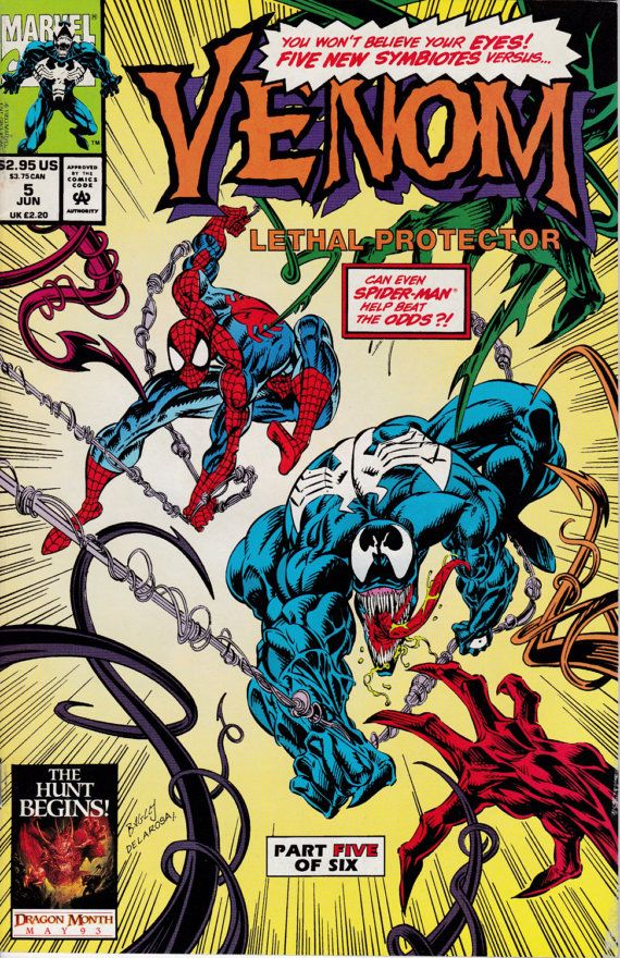 Venom Lethal Protector 5 June 1993 Issue  Marvel by ViewObscura