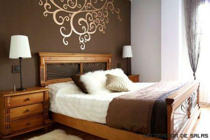 Dormitorios matrimoniales decorados con vinilos buscar for Pasillos decorados con vinilos