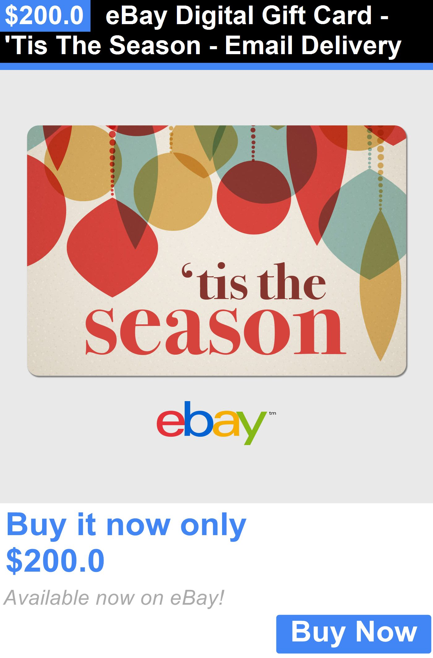 Gift Cards Ebay Digital Gift Card Tis The Season Email Delivery Buy It Now Only 200 0 Digital Gift Card Gift Card Cards