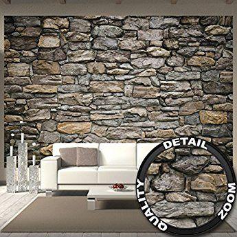 Fototapete Grey Stonewall Wandbild Dekoration Wandverkleidung Stein