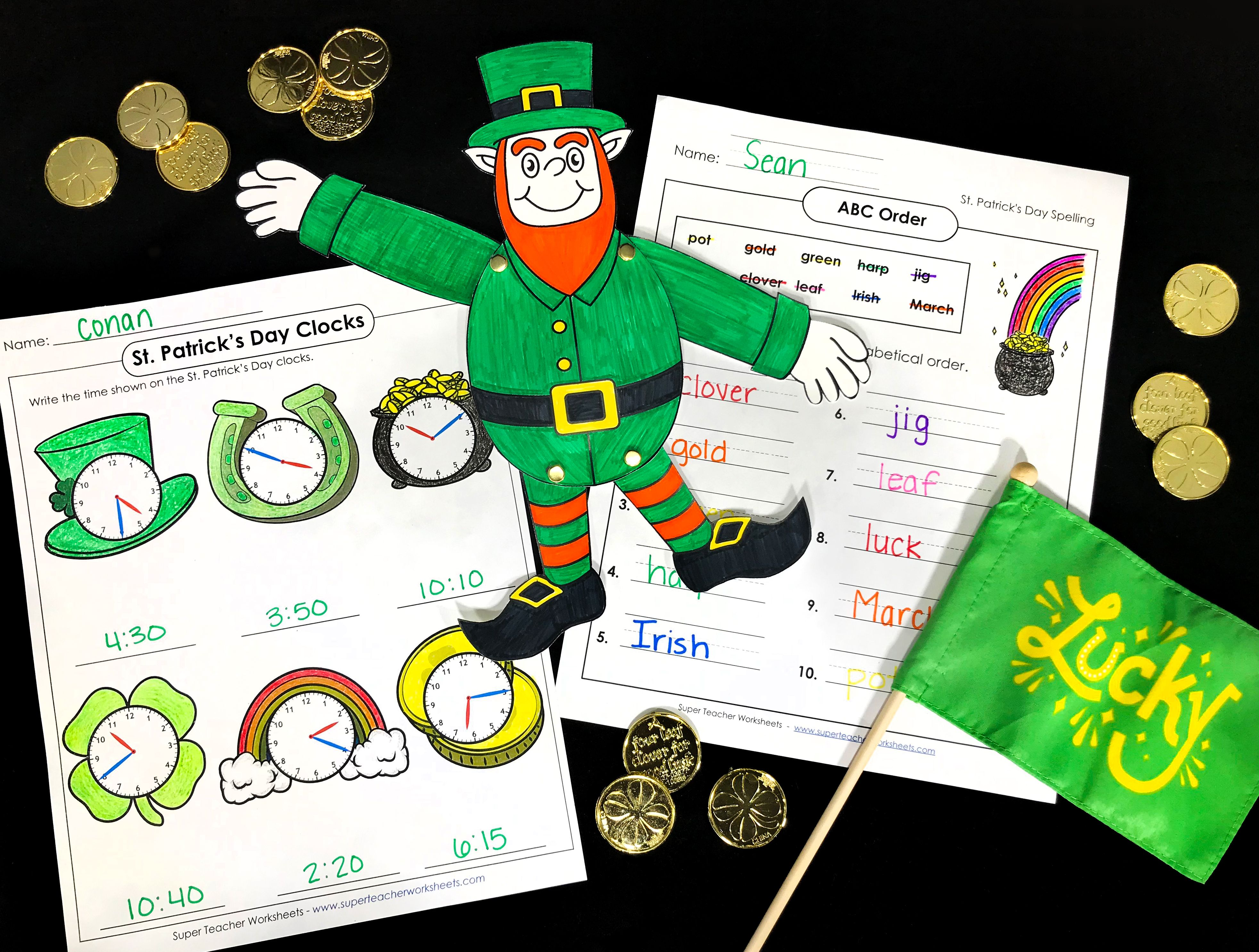St Patrick S Day Super Teacher Worksheets Classroom Activities Abc Order [ 2974 x 3930 Pixel ]