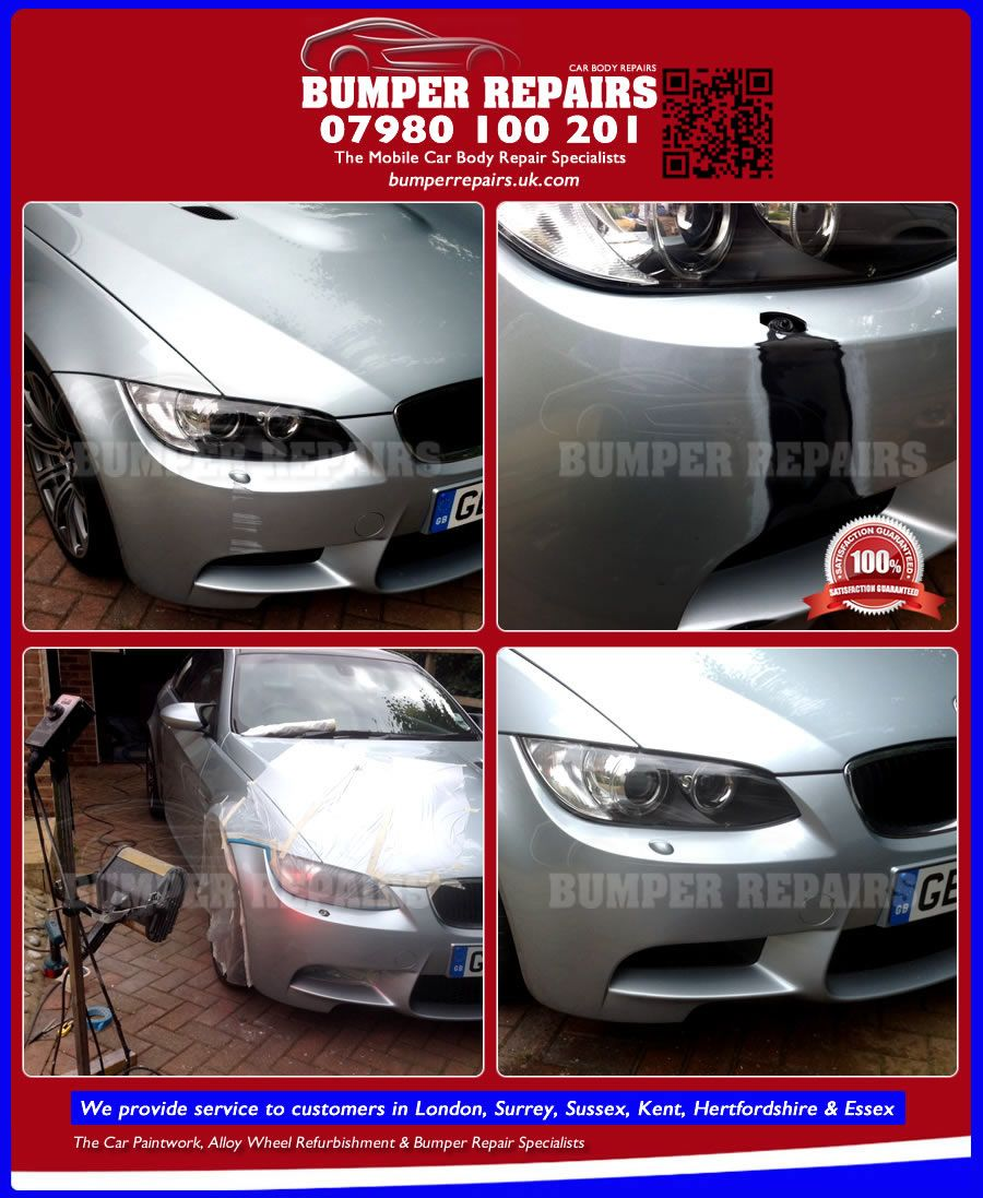 We repair BMW M3 paint scratch, bodywork dent and alloy wheel