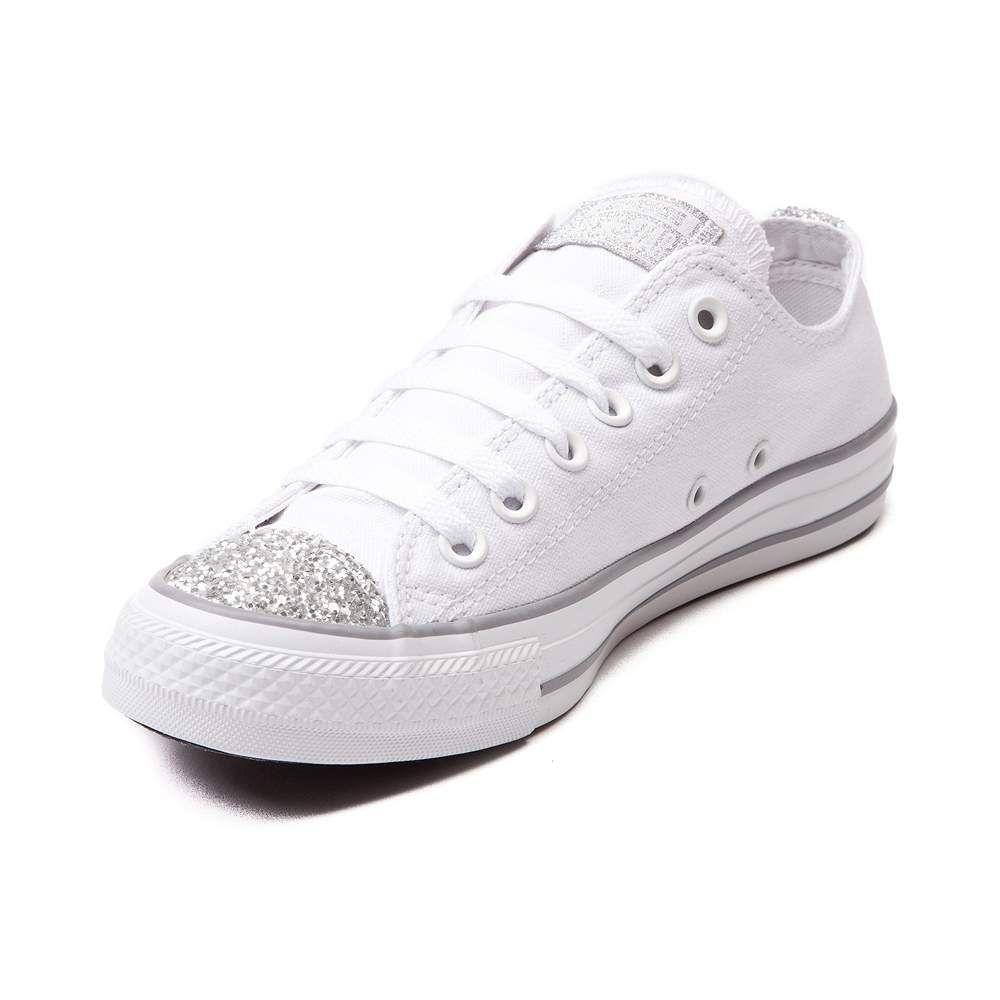 05ce89f76195 Womens Converse Chuck Taylor All Star Lo Glitter Toe Sneaker ...