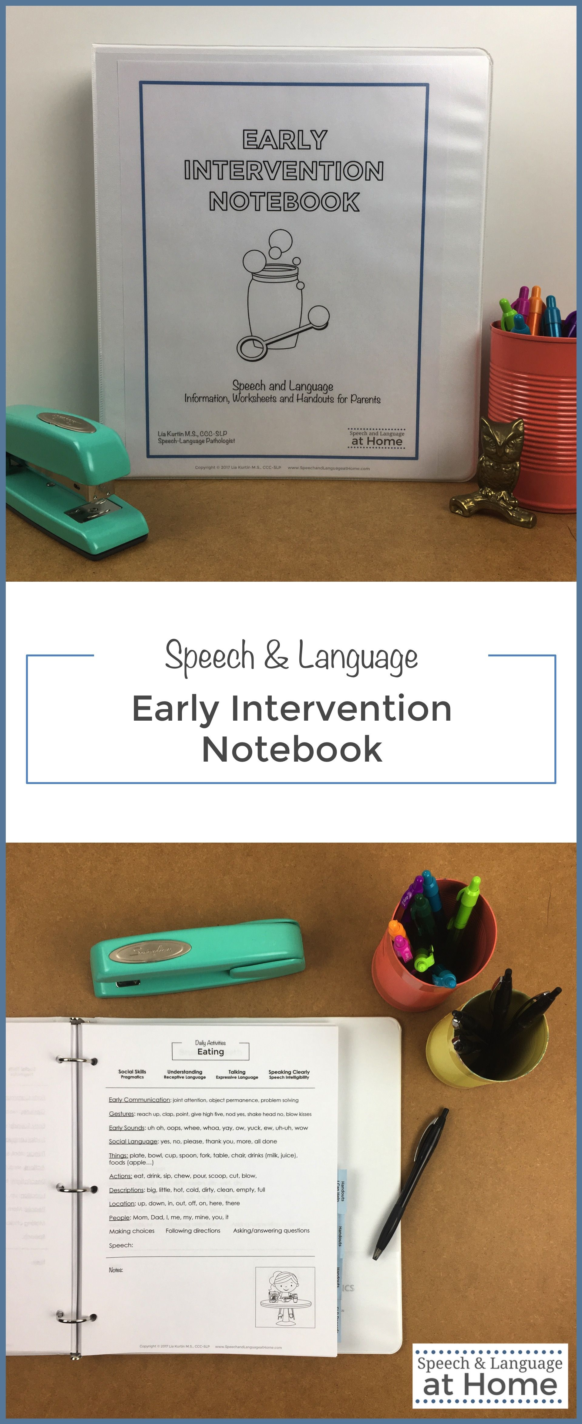 Early Intervention Parent Handouts A Notebook Of