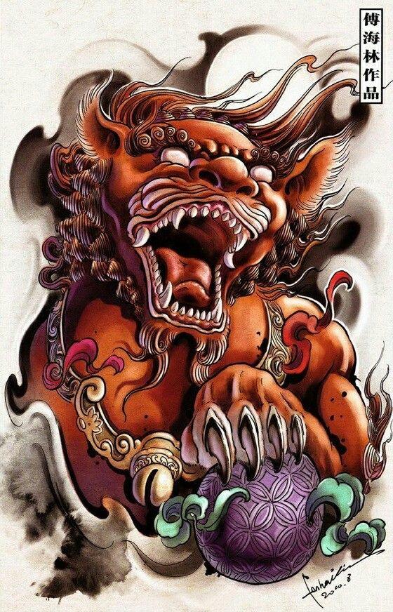 Foo Doglion Guardian Oriental Tattoo Design Pinterest Tattoos