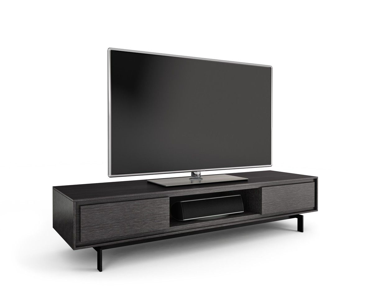 Bdi Signal 8323 Graphite Low Profile Tv Stand And Media Cabinet With Doors Has A That Is Perfect For Those Preferring Lower
