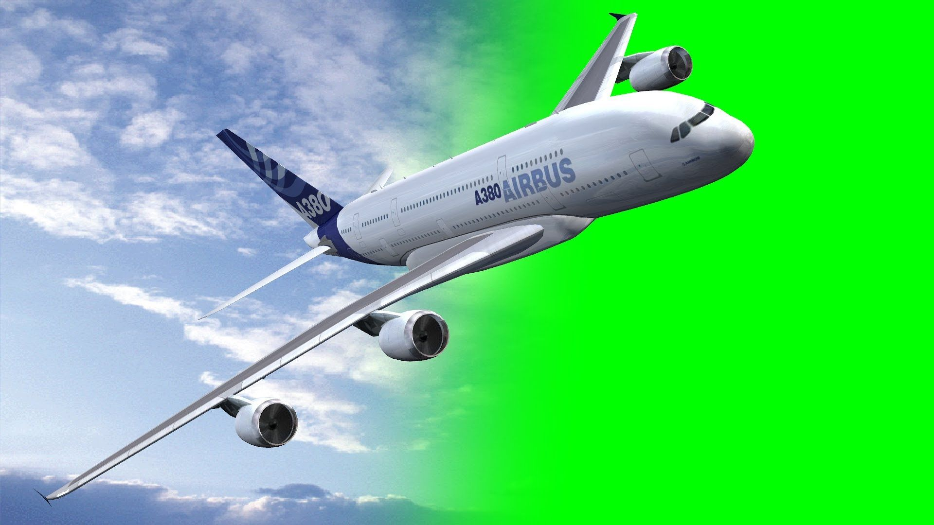 Video Download Link Http Www Freegreenscreen Com Airplane Airbus A380 Fly By Green Screen Free Download Html Videos