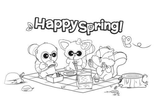 Happy Spring Coloring Pages | Ausdruckbilder | Pinterest