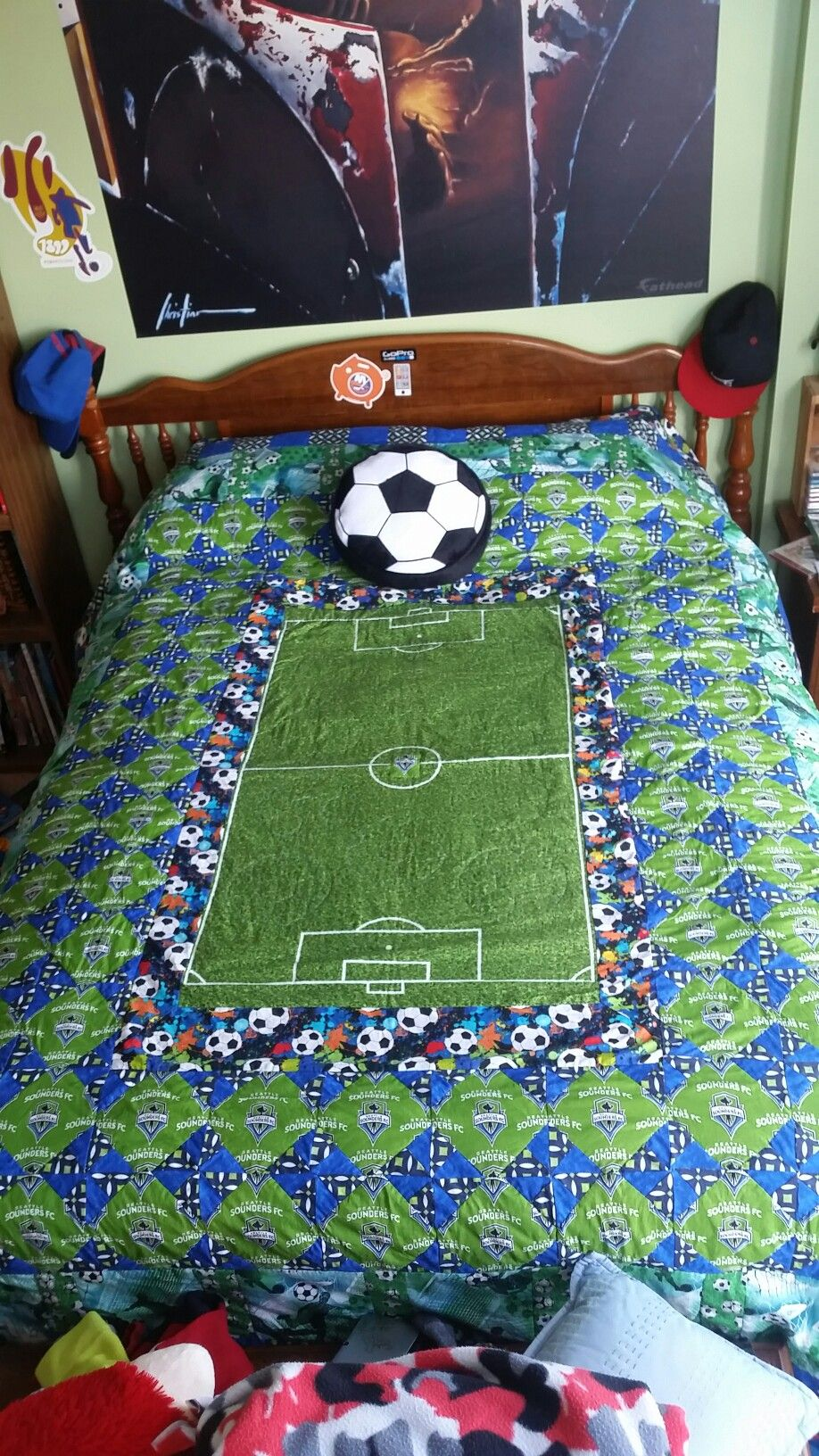 Seattle Sounders Soccer Quilt Flannel Rag Quilts