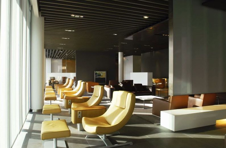 Lufthansa First Class Lounge Frankfurt Lounge interiors