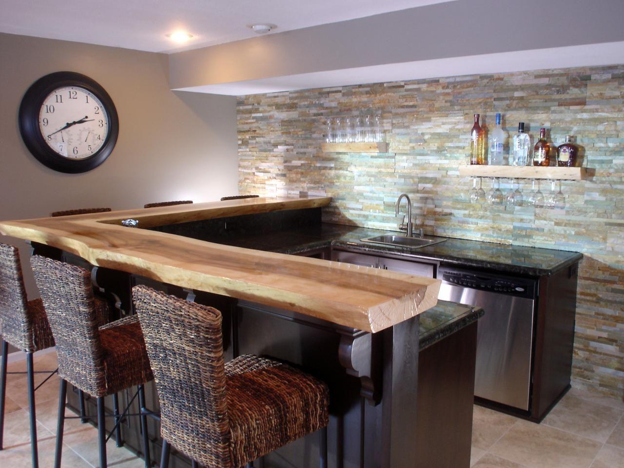 Home Basement Bar Design Ideas
