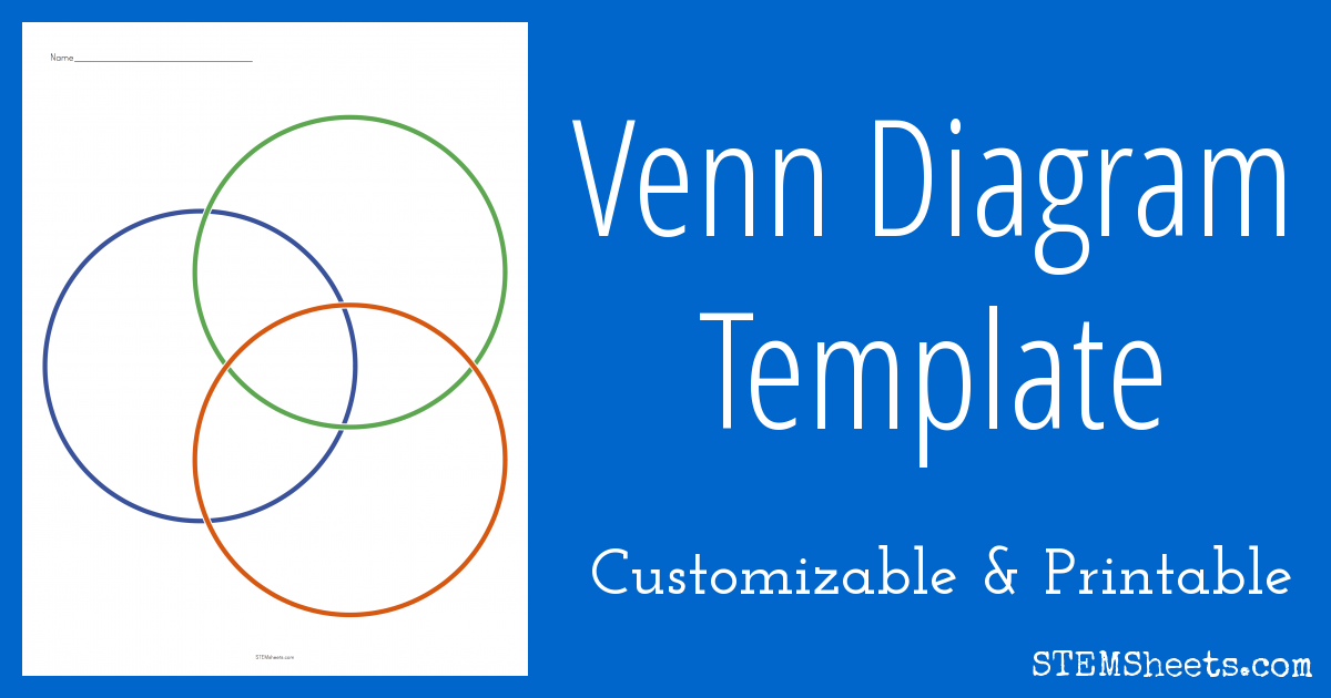 Quickly Customize And Print Venn Diagram Templates With Two Three