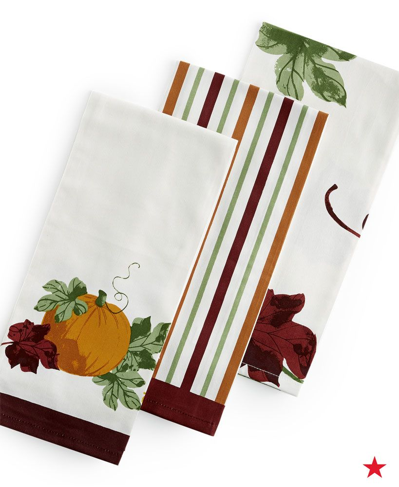 Add A Seasonal Vibe To Your Thanksgiving Festivities With Stylish Harvest  Print Kitchen Towels U2014 Martha