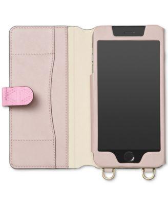 1620d7a07c11 Michael Michael Kors iPhone 7 Plus Folio Case Crossbody - Silver ...
