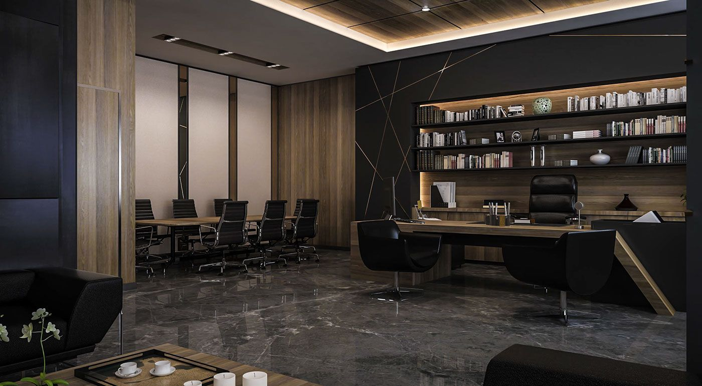 Ceo Office Design: CEO Office Design And Visualization For A Well-known