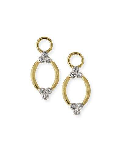 Jude Frances City Lights Brushed Open Marquis Earring Charms Shmn80IM