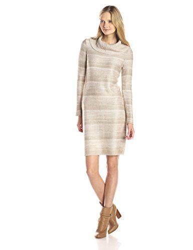 Calvin Klein Women's Cowl Neck Space Dye Sweater Dress #fashion #men #women  http://www.yearoffashion.com/calvin-klein-womens-cowl-neck-space-dye-sweater-dress/ Calvin Klein Women's Cowl Neck Space Dye Sweater Dress Cowl neckline