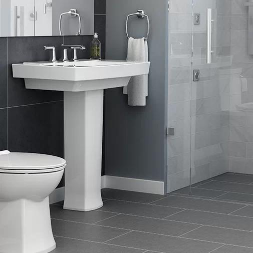 Townsend 29 25 Tall Ceramic Rectangular Pedestal Bathroom Sink
