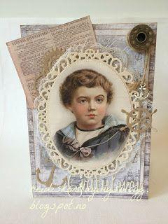 Heidis kortlagingsblogg: Vintage gutt med tekst