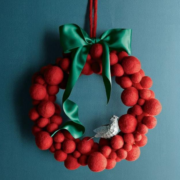 Felted wreath.
