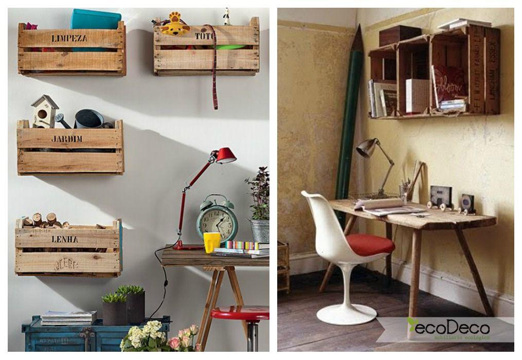 lugares perfectos para crear estanteras con cajas de fruta agrupndolas o sueltas seguro que le darn un toque distinto y original a tu casa - Estanterias Con Cajas