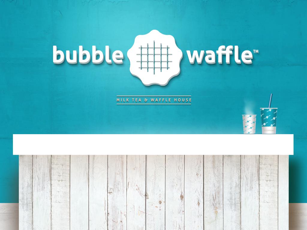 Bubble Waffle Milk Tea + Waffle House #brand #design #logo ...
