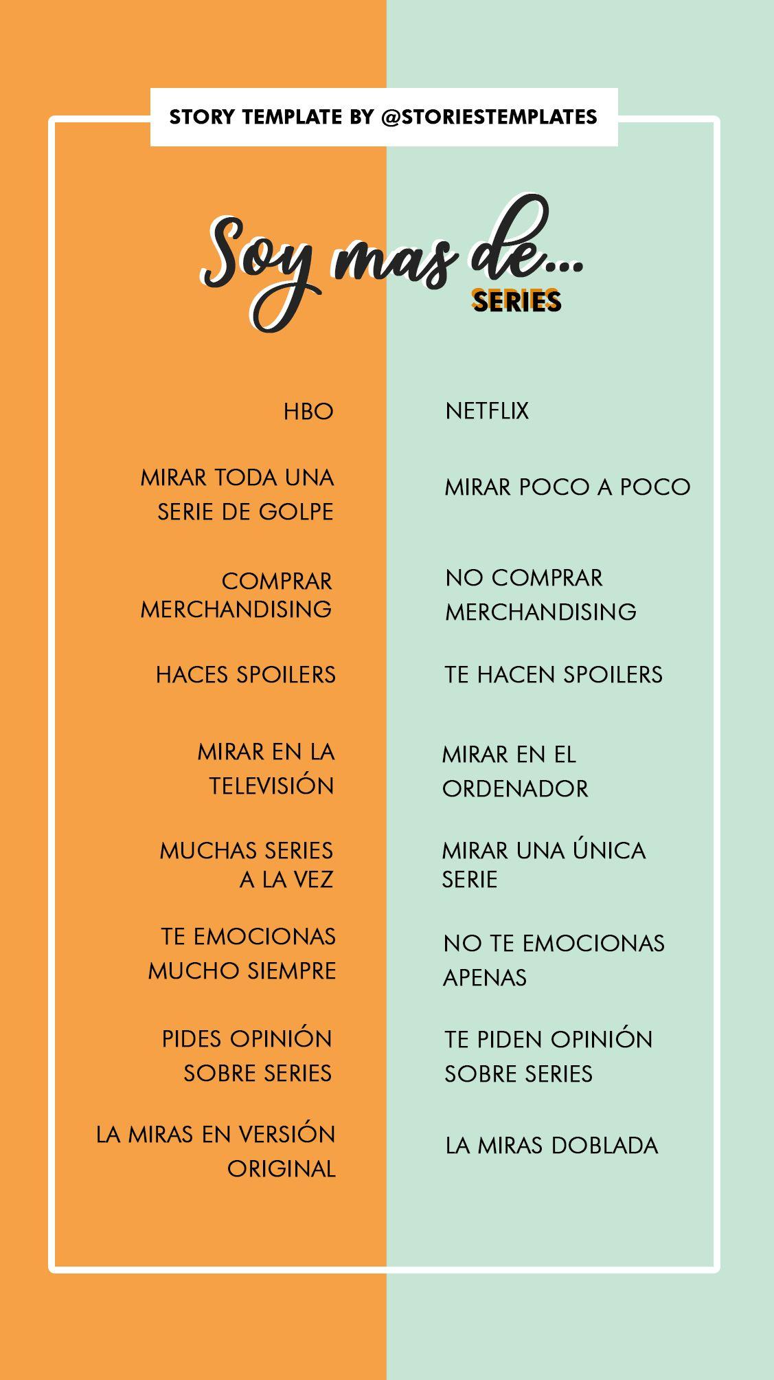 Plantilla Soy Mas De Series Edition Con Cual Te